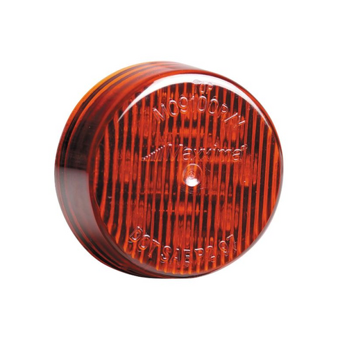 Maxxima - 2 in. Round Clearance Marker Light | Red, 9 LED