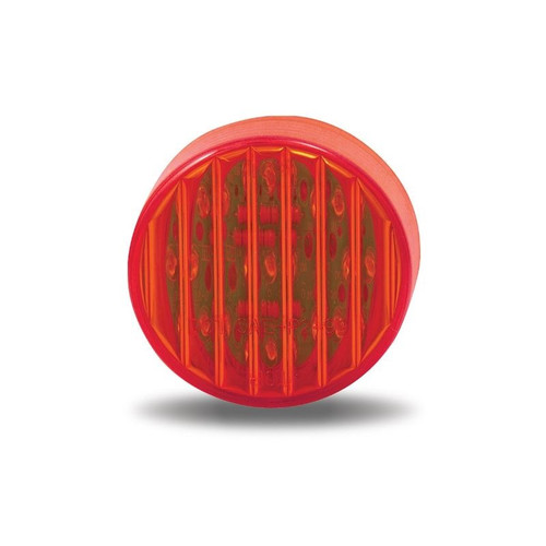 Red Ribbed Marker Light | 2 in., 9 LED