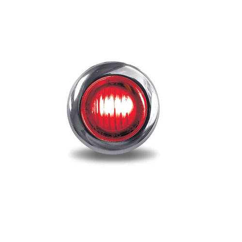 3/4 in. Round LED Clearance Marker Light | Red, Mini-Button, 2-Wire