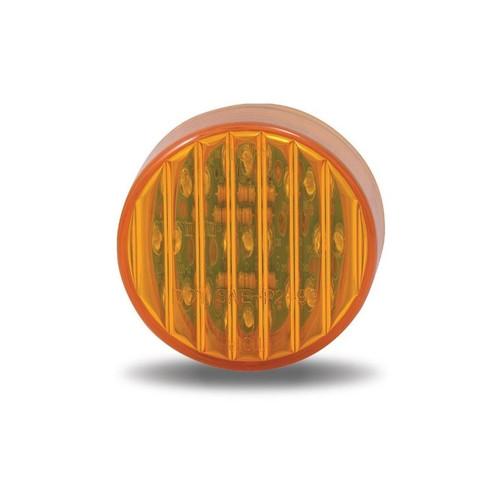 Amber Ribbed Marker Light | 2 in., 9 LED