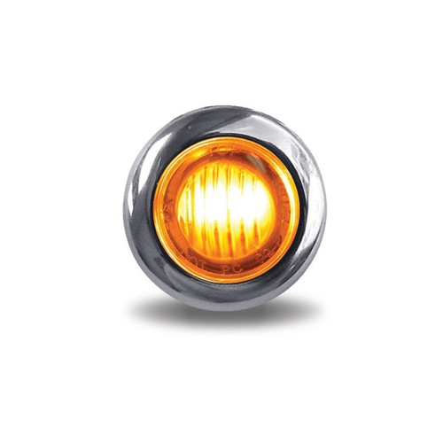 3/4 in. Mini-Button Round Clearance Marker LED | Amber, 2-Wire