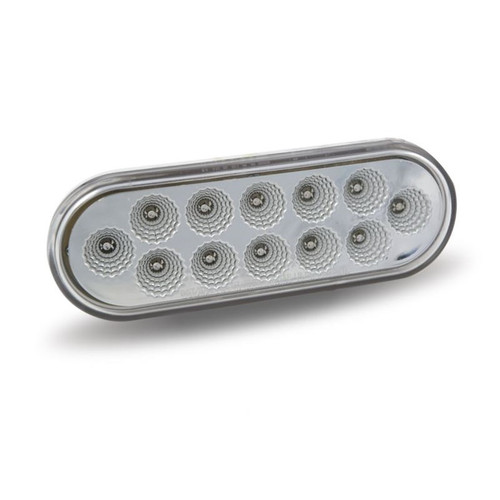 Oval Stop/Turn/Tail Back-Up Light | Red/White, 12 LED
