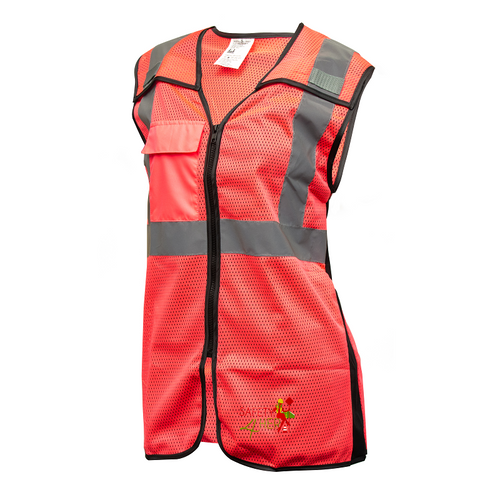 Womens Class 2 Reflective Vest, Pink | Safety4Her