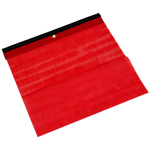 18 in. x 18 in. Red Safety Flag w/Vinyl Belt | ECTTS