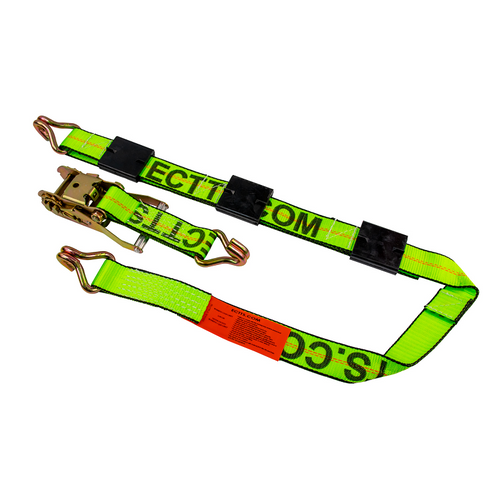 10 Foot Ratchet Strap with Double J Hooks (wheel straps) WLL 3,670 lbs. R100,DEE,Deeper Mfg.