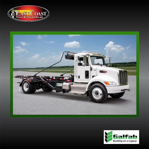 Roll Off Truck | 2020 Peterbilt 337 & Galfab 20K Outside Rail Hoist in White | Stock#10695N