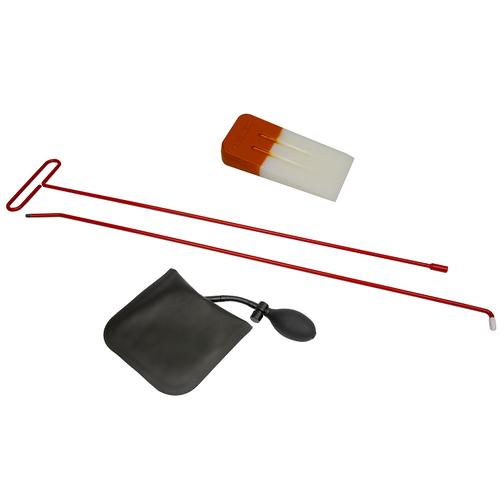 Car Door Unlock / Lockout Kit w/ Air Wedge + Long Reach Tool