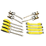 The 8-Point Rollback Tie- Down System is easy to install and prevents all four tires from moving back and forth. Each strap has a Work Load Limit of 4,000 lbs. and is totally adjustable to accommodate any car or small truck. Different styles are available