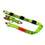 8 Foot Ratchet Strap with Double J Hooks (wheel straps) WLL 3,670 lbs. R100,DEE,Deeper Mfg.