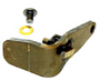 This skid pivot lock is a ramp saver. The small spring lock secures the pivot in place. Ref replacement parts: 5741 washer, 887758 spring, 67838 key ring handle. The part is unfinished.