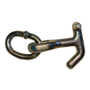 Mounted onto an oblong oversize link to clip to winch cable or to attach to chain. Works like a Hammerhead hook. 11-7H-L