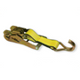"""This 2"""" Wide Handle Ratchet with Double J Hook comes attached to a Webbed Short Strap. Ratchet meets or exceeds OEM specifications and features a patented double locking mechanism."""