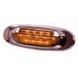 Maxxima - Amber Oval Clearance Marker | 13 LED, w/Bezel