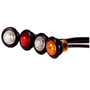 Maxxima - 3/4 in. Round Clearance Marker LED | Red, Clear Lens