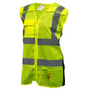 Womens Class 2 Reflective Vest, Lime | Safety4Her