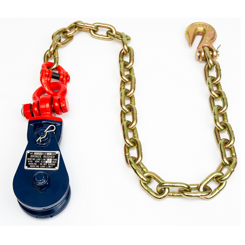 4 Ton Snatch Block Shackle Chain End with Grab Hook