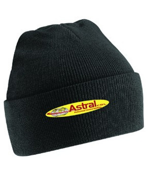 BEECHFIELD ACRYLIC KNITTED HAT - BLACK