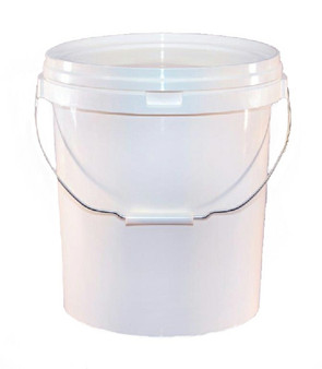 20 LITRE WHITE VALETERS PAIL WITH LID