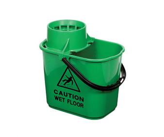 15L MOP BUCKET (PLASTIC) IN GREEN