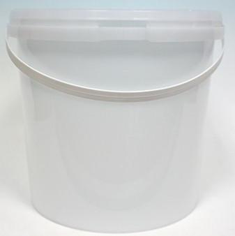 3.8LT PLASTIC BUCKET IN WHITE