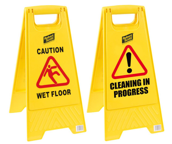 """CLEANING IN PROGRESS"""" SIGN"""