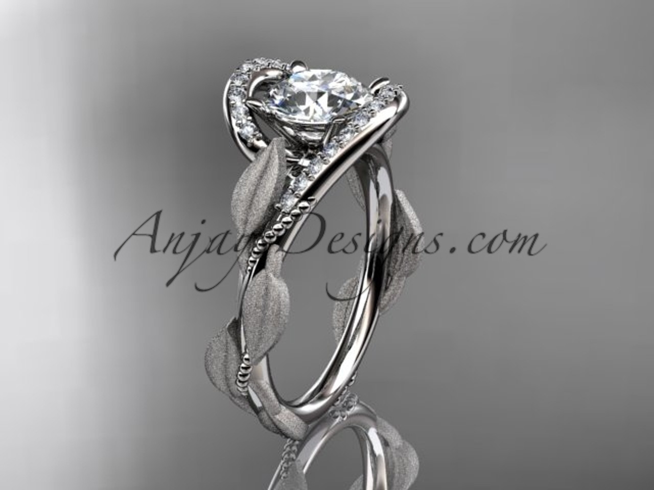 Simple Wedding Ring.Platinum Diamond Leaf And Vine Wedding Ring Engagement Ring Adlr64