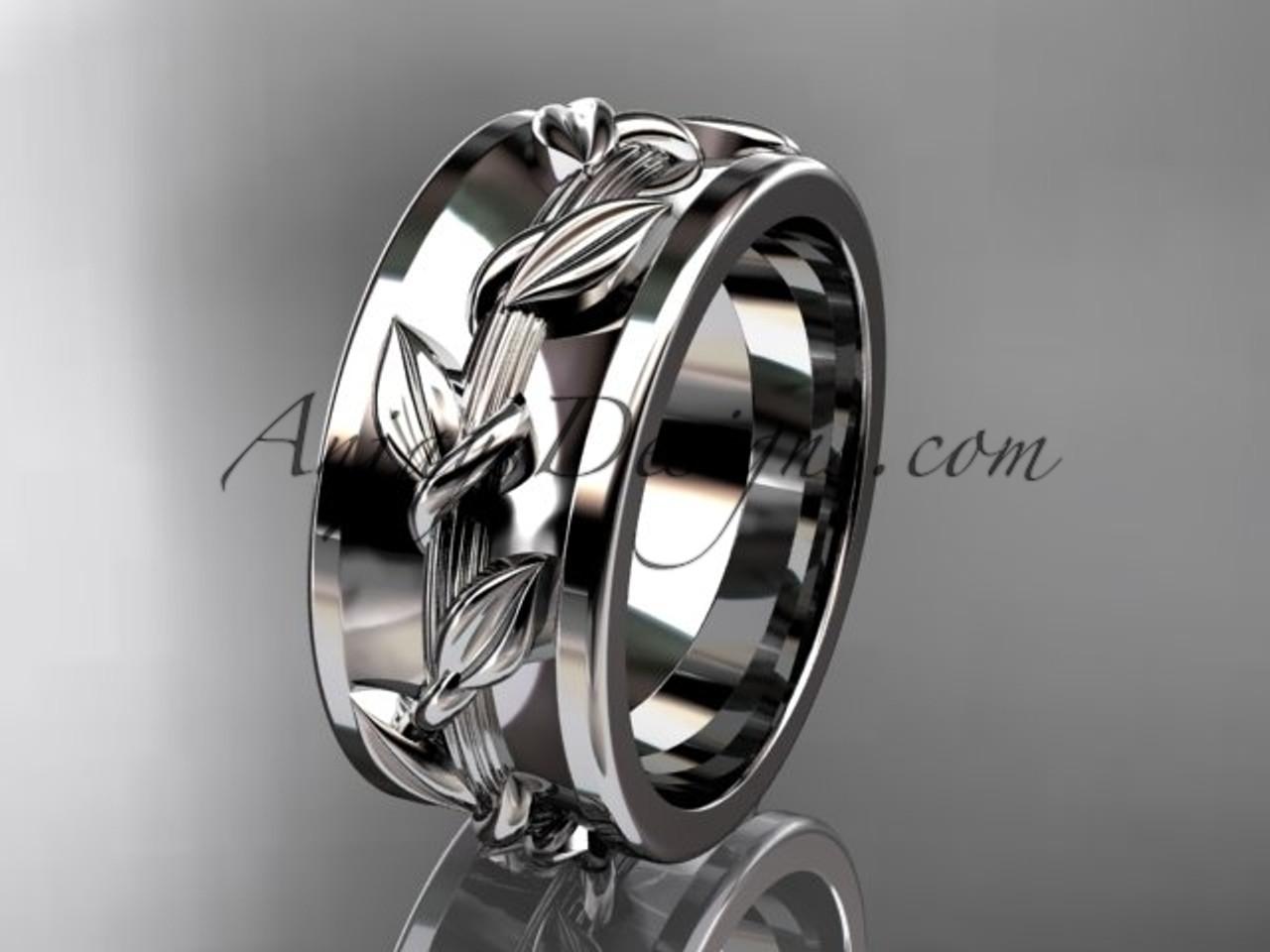 14kt White Gold Engagement Ring Wedding Band Adlr417g