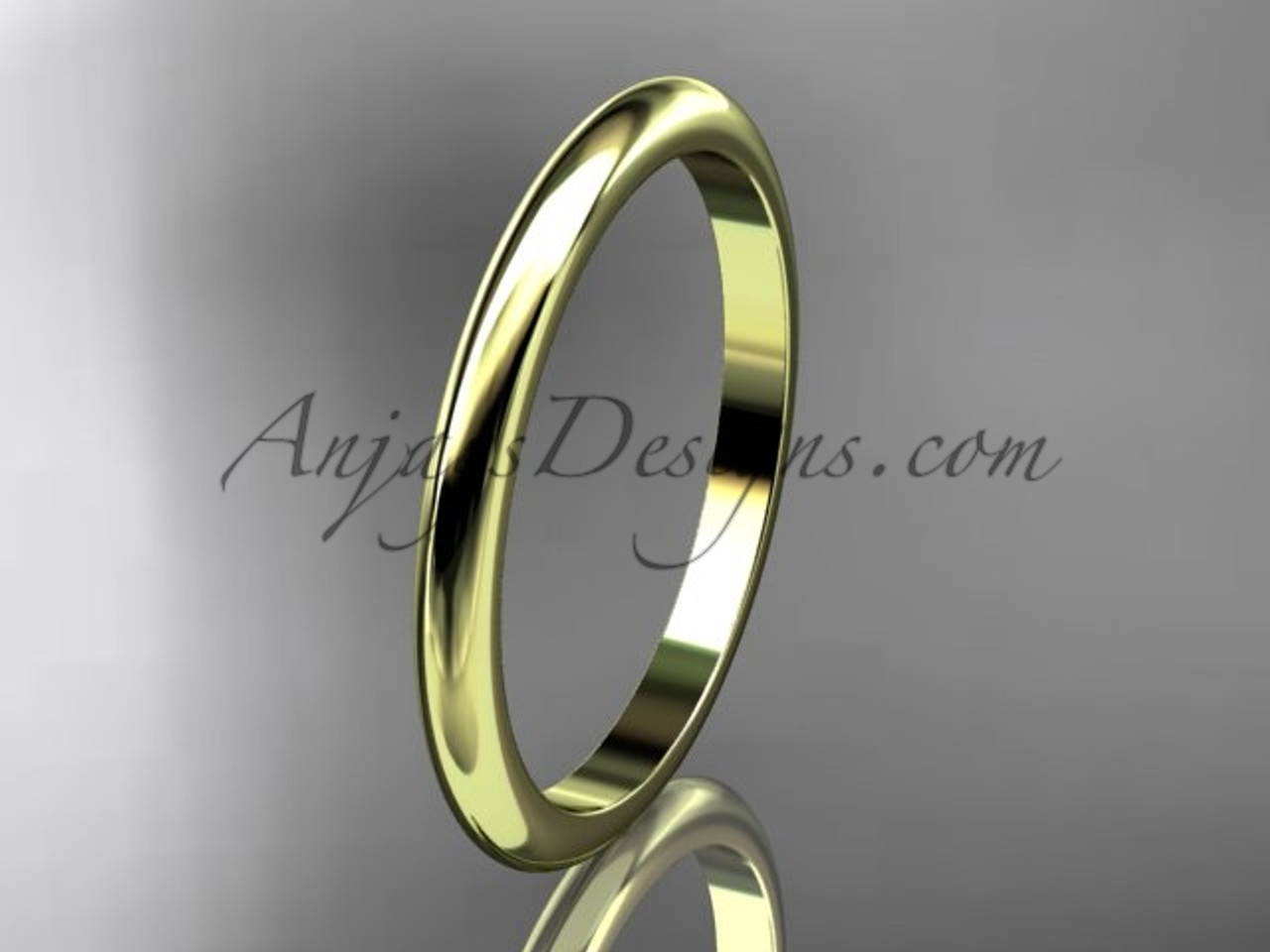 11f930198b4d1 14k yellow gold traditional 2mm wide wedding band WB50102G