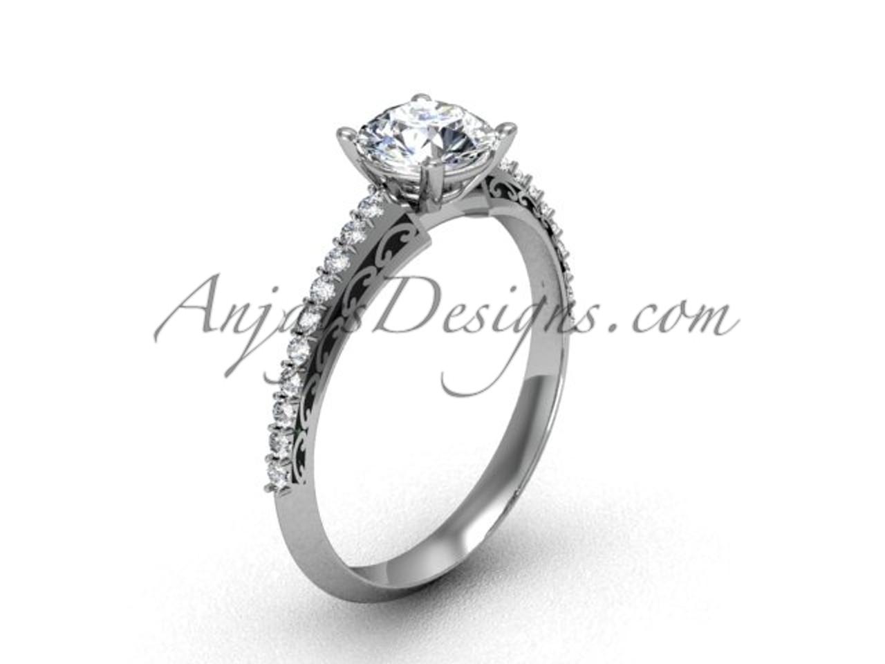 Womens Wedding Rings.Women S Platinum Engagement Rings Unique Vintage Wedding Ring Sgt626