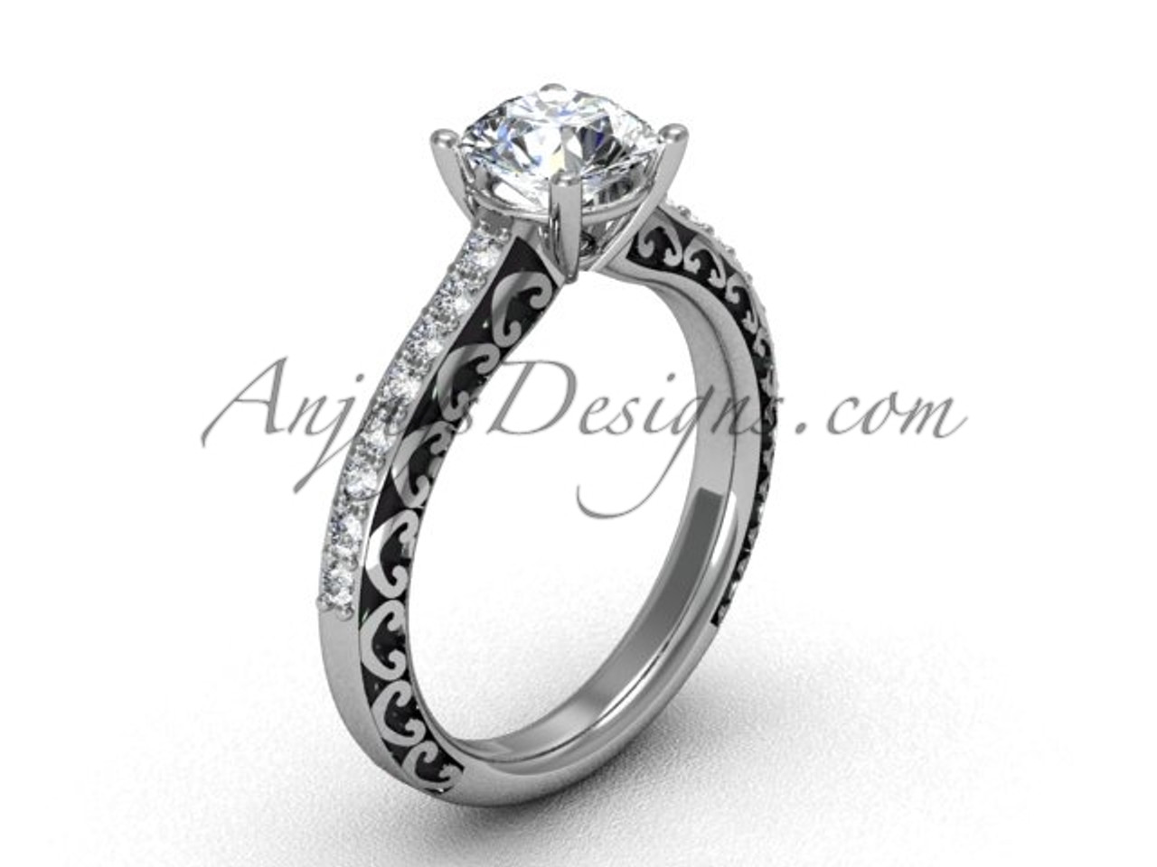 Engagement Rings For Women S White Gold Bridal Ring Sgt629