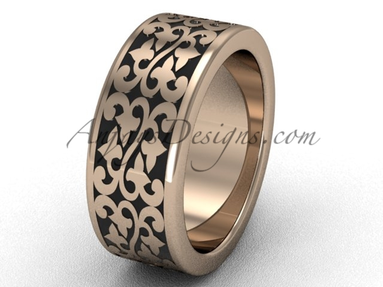 Pink Gold Rings Gold Braided Wedding Ring For Men Sgt647g