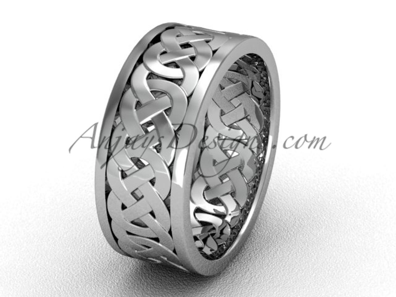 Mens Unique Wedding Bands.Simple Elegant Celtic Ring Platinum 7 5 Mm Wide Modern Engagement Ring Ct7431g