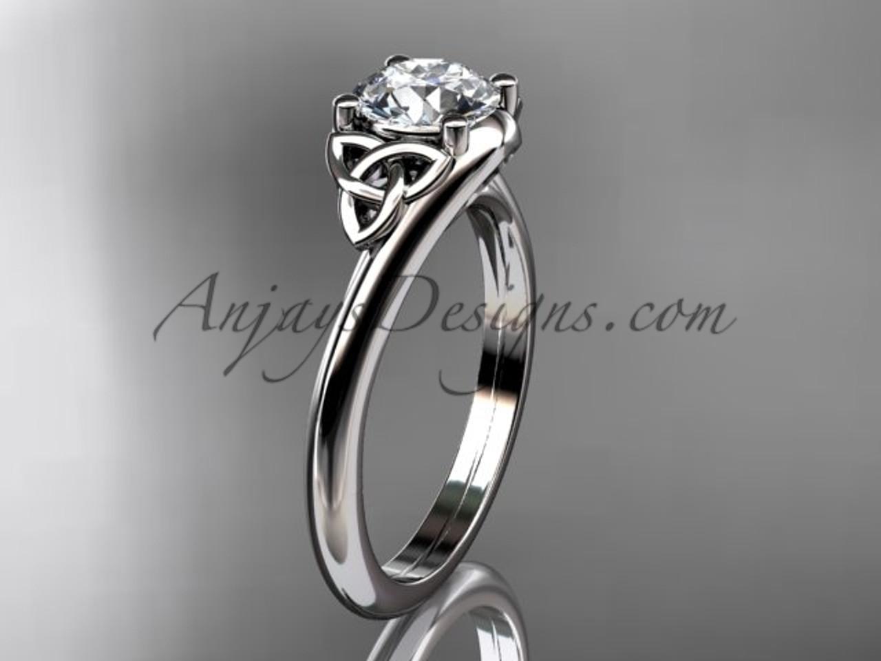Unusual Engagement Rings Irish Gold Triquetra Ring Ct7433