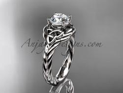 Platinum Rope Nautical Engagement Ring Rpct9125