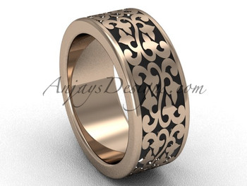 Cool Wedding Rings.Cool Wedding Ring Unique Bands Unique 14k Rose Gold 8 0 Mm Wide Marriage Ring Band Sgt647g