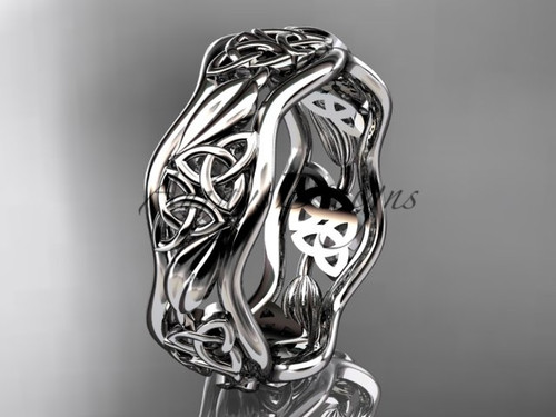 platinum celtic trinity knot wedding band, engagement  ring CT7512G