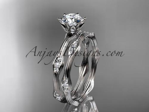 Platinum diamond wedding ring, engagement ring, engagement set ADLR132S