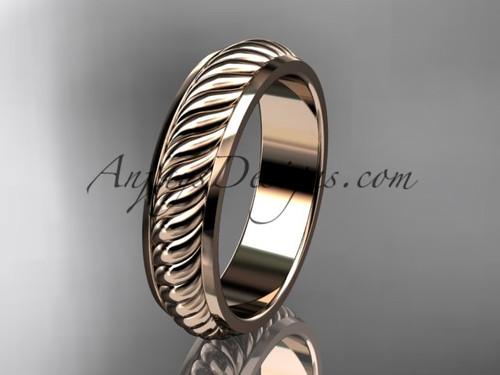 14kt rose gold wedding band ADLR399G
