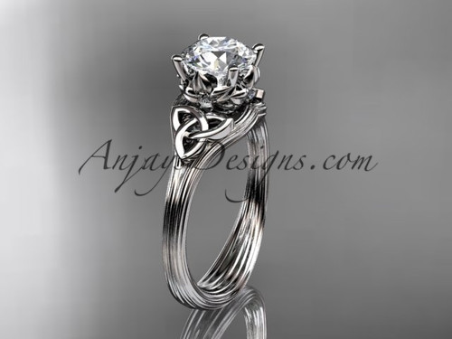 platinum diamond celtic trinity knot engagement ring wedding ring CT7240