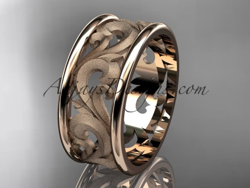 Wedding Bands, Rose Gold Simple Engagement Ring ADLR121G