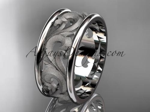 Wedding Bands, Platinum Unique Engagement Ring ADLR121G