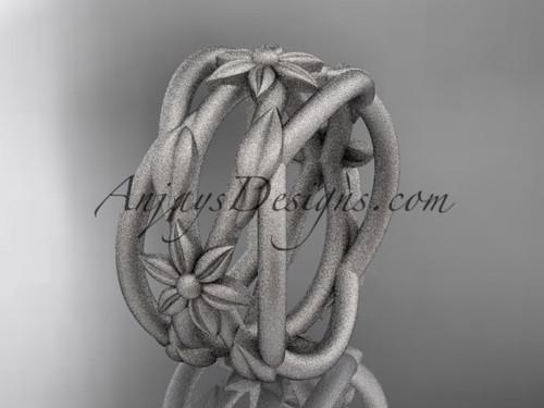Leaf Engagement Rings Platinum Flower Wedding Ring ADLR352G