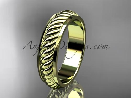 14kt yellow gold wedding band ADLR399G