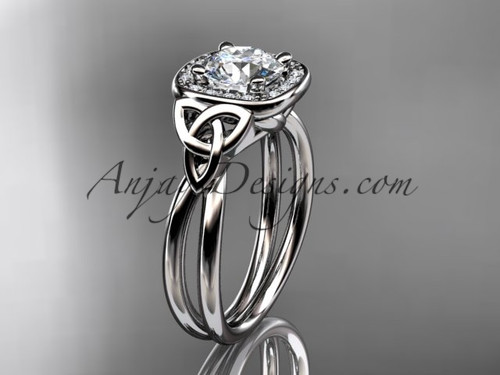 14kt white gold trinity sapphire and diamond ring CT7330