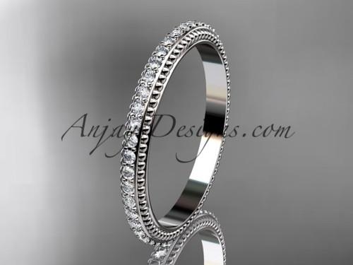 14kt white gold diamond wedding ring, engagement ring, wedding band ADER86B