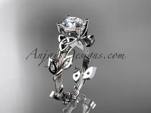 platinum diamond celtic trinity knot wedding ring, engagement ring CT7215