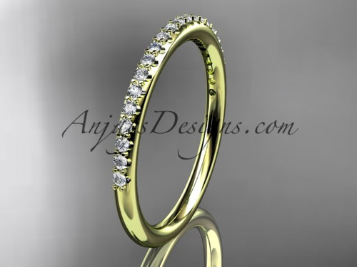 stacking rings yellow gold diamond  engagement ring ADER103B