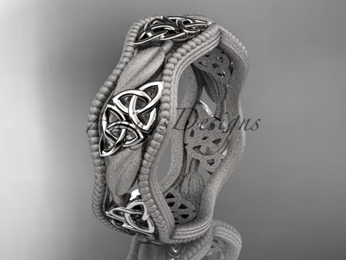 platinum celtic trinity knot wedding band, engagement  ring CT7508GM