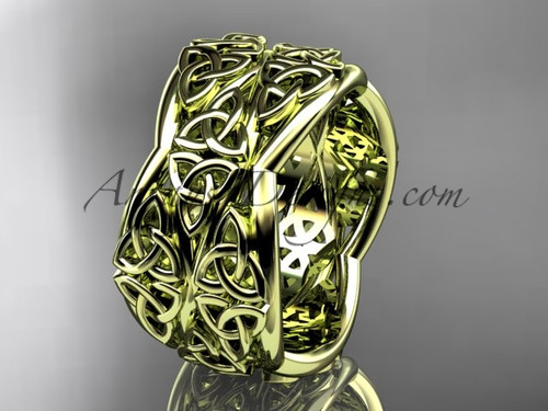 Yellow Gold Engagement Ring Celtic Wedding Band CT7352G