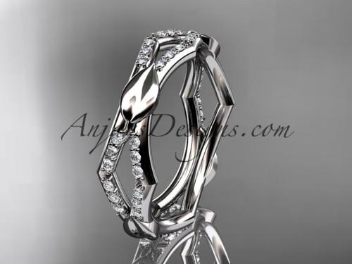 platinum diamond leaf and vine wedding band,engagement ring ADLR353B
